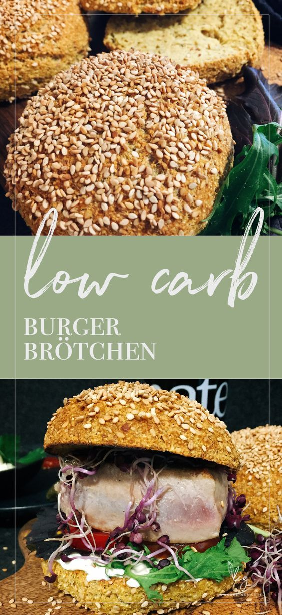 Low carb Burger Brötchen - Keto #lowcarbyum