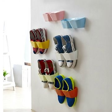 Creative Hanging Shoe Rack Wall Hang Save Space Shoes Holder Bathroom From Home And Garden On Banggood Com Diy Shoe Rack Hanging Shoe Storage Wall Mounted Shoe Rack