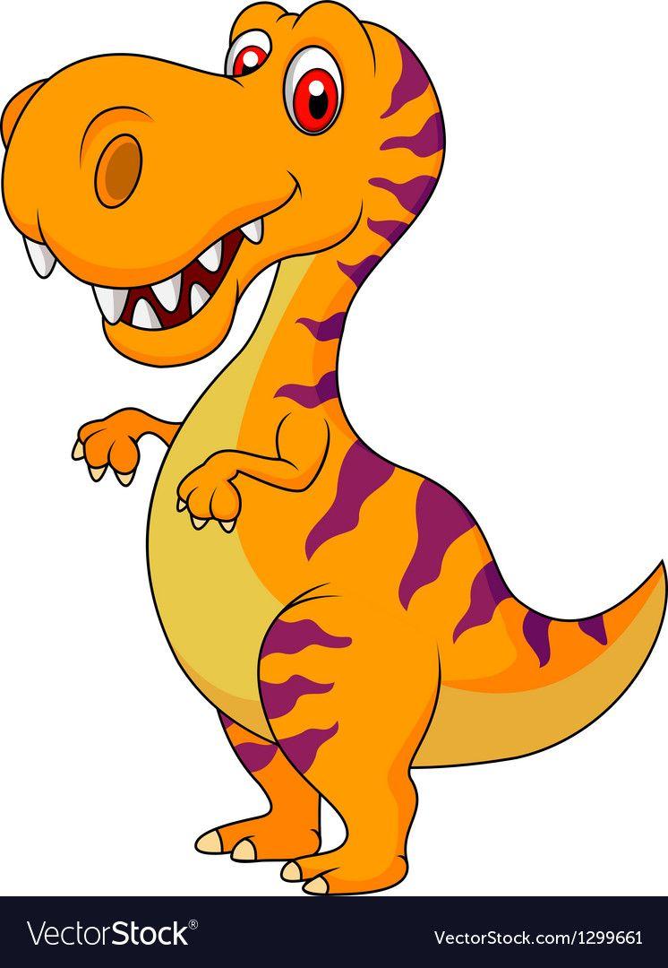 Cute Dinosaur Cartoon Vector Image On Vectorstock Dinosaur Pictures Dinosaur Images Cute Dinosaur