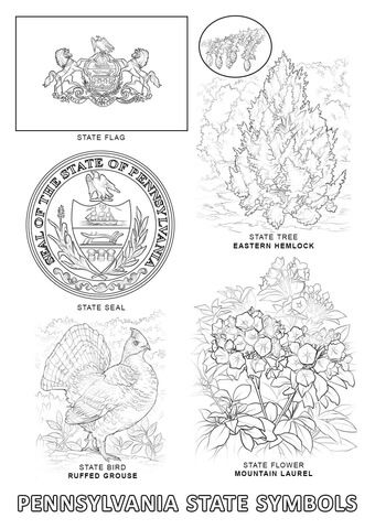 Pennsylvania State Symbols Coloring Page From Pennsylvania