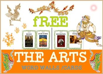 "The Arts Word Walls/CardsThings which generally come under the heading of "" the arts""** Literature - biographies-novels- short stories-drama-poetry** Fine Art - sculpture-painting-architecture-ceramics** Performing arts - theater - dance -cinema-ballet-opera- concertEnjoy It !!"
