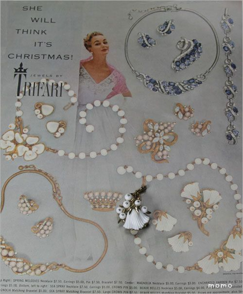 Dating vintage trifari jewelry ads