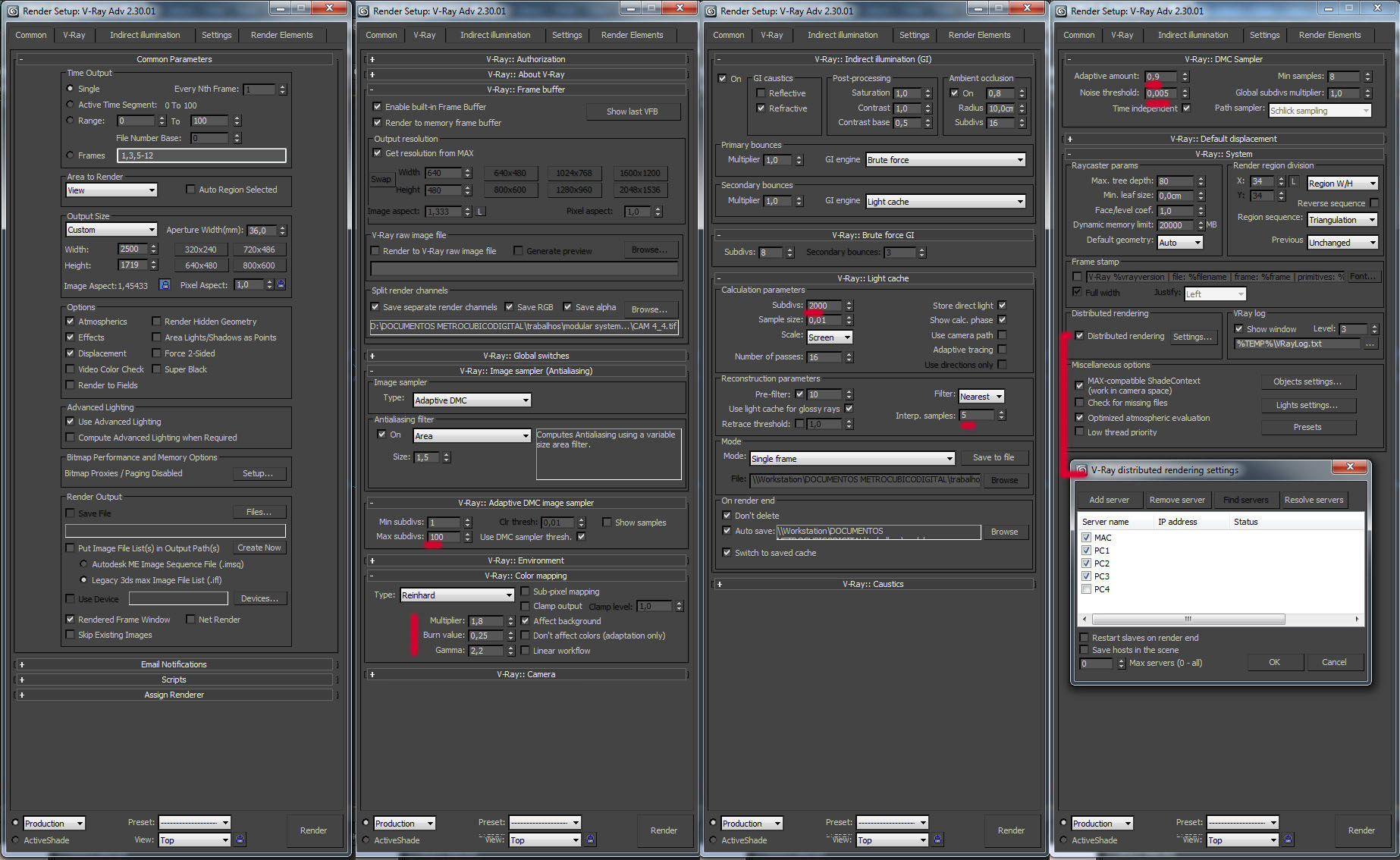 Render settings vray rendering materials settings for Interior design 7 0 tutorial