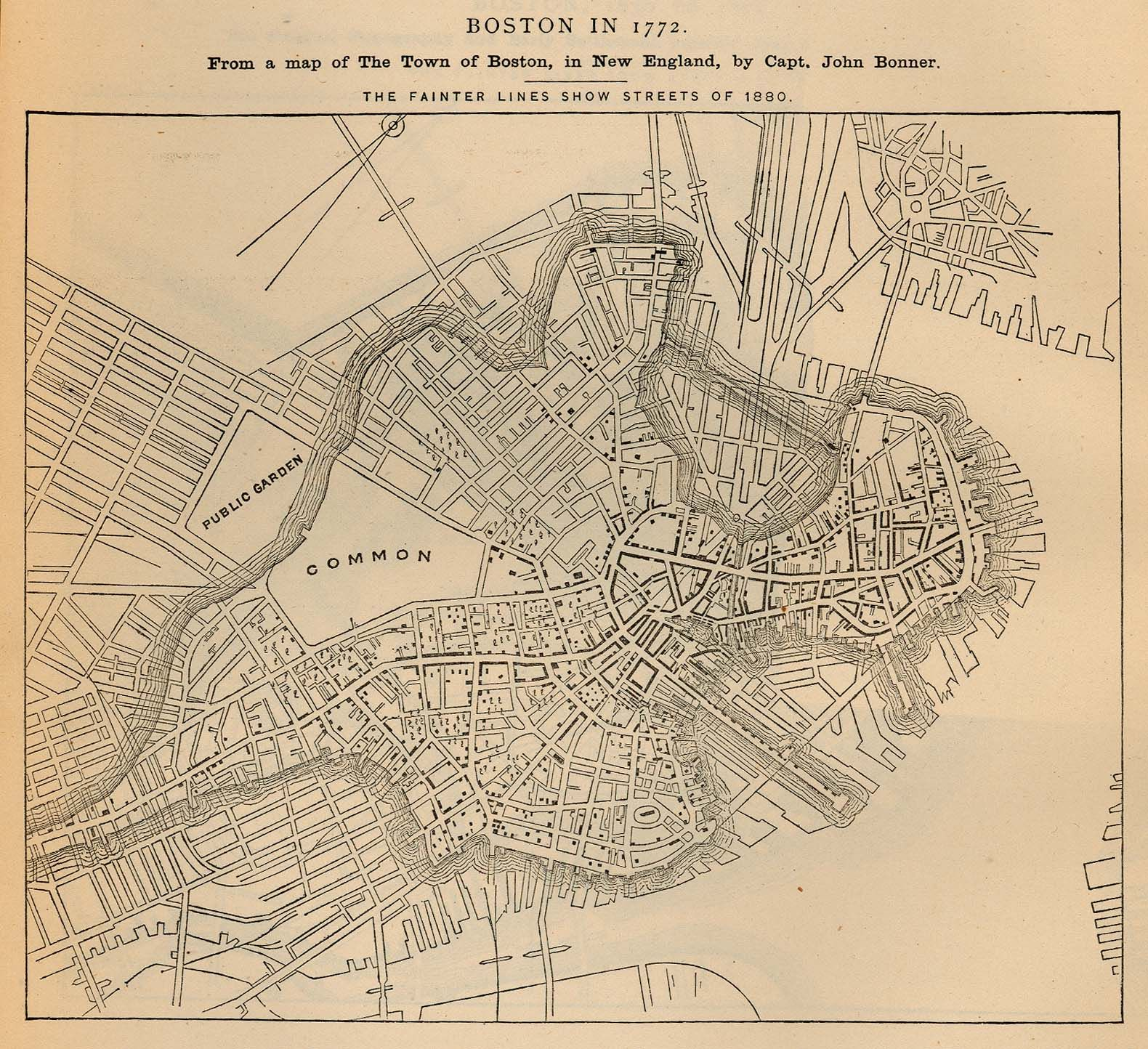 Boston In  After Some Land Reclamation DESIGN  Maptastic - Map of boston vicinity