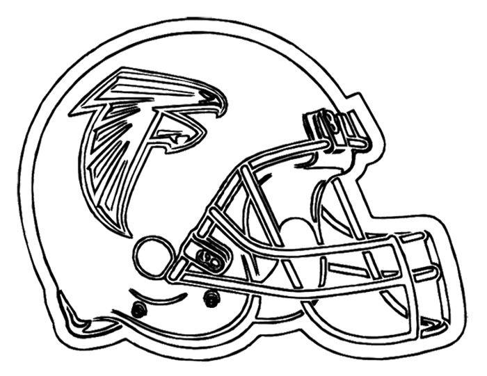 Football Helmet Atlanta Falcons Coloring Page Football Coloring