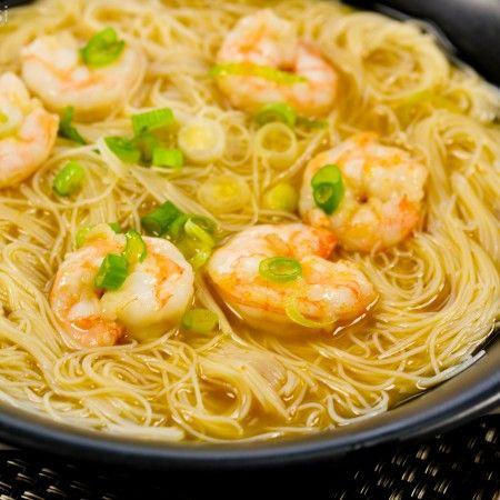 Shrimp Miso Noodle Soup #SundaySupper