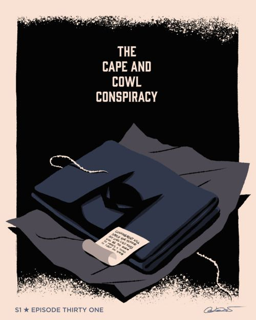 "Sketch for Episode 31 of Batman The Animated Series ""The Cape and Cowl Conspiracy"" by George Caltsoudas"