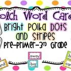 This set is perfect for your word wall, or D5 Word Work activities. It contains words from Pre-primer through 3rd grade Dolch words.Make sure t...