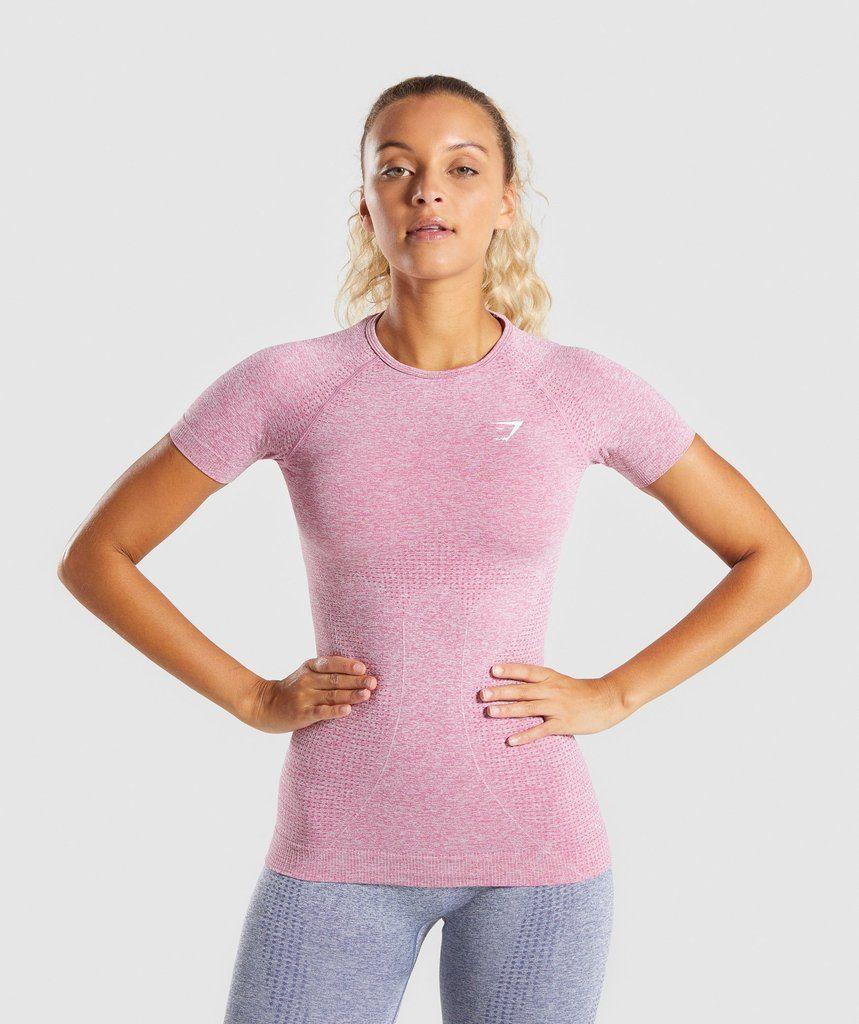 4c13c372 Gymshark Vital Seamless T-Shirt - Dusky Pink Marl in 2019 | gymshark ...