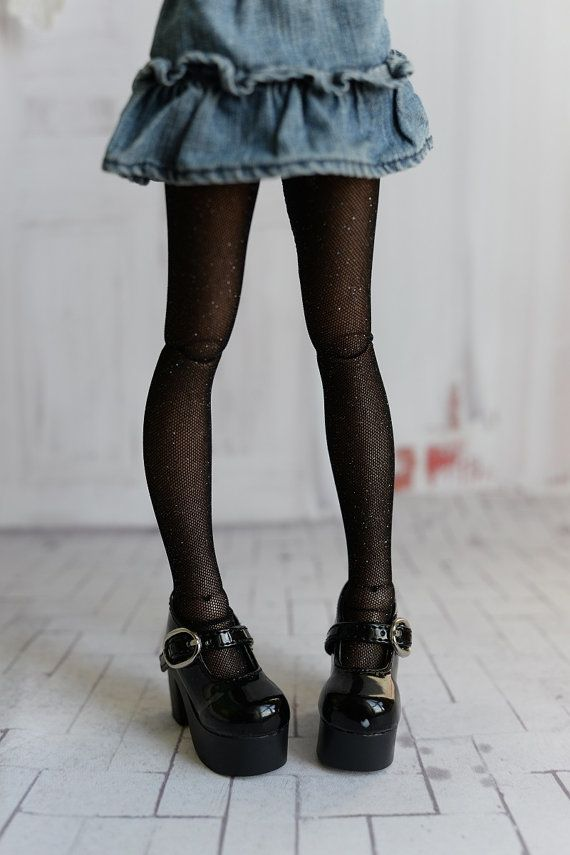 9d6791a30 Black with shine tights for doll 1 4 slim msd minifee