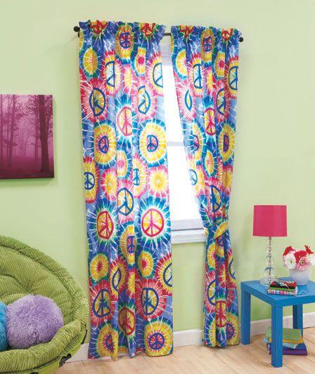 Hippy Bedroom · PEACE SIGN Tie Dye ...
