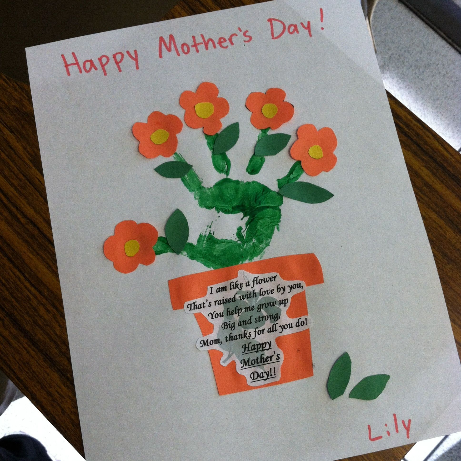Mother 39 s day flower pot art project art projects for Mother s day projects for preschoolers