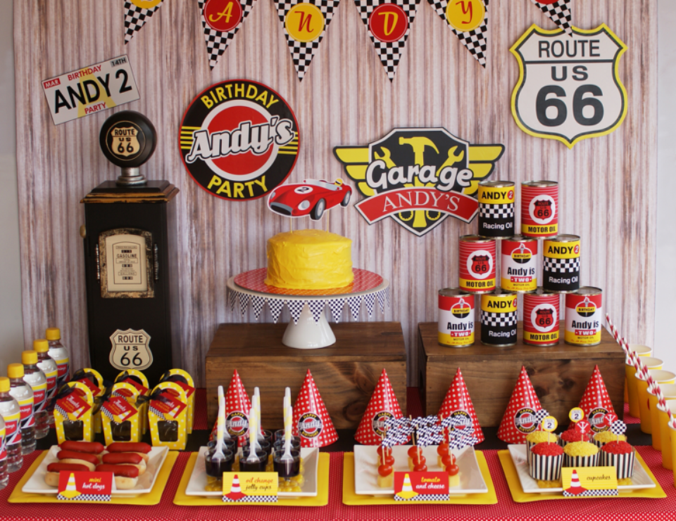 """Race Cars / Birthday """"Vintage Racing Car Party"""" 