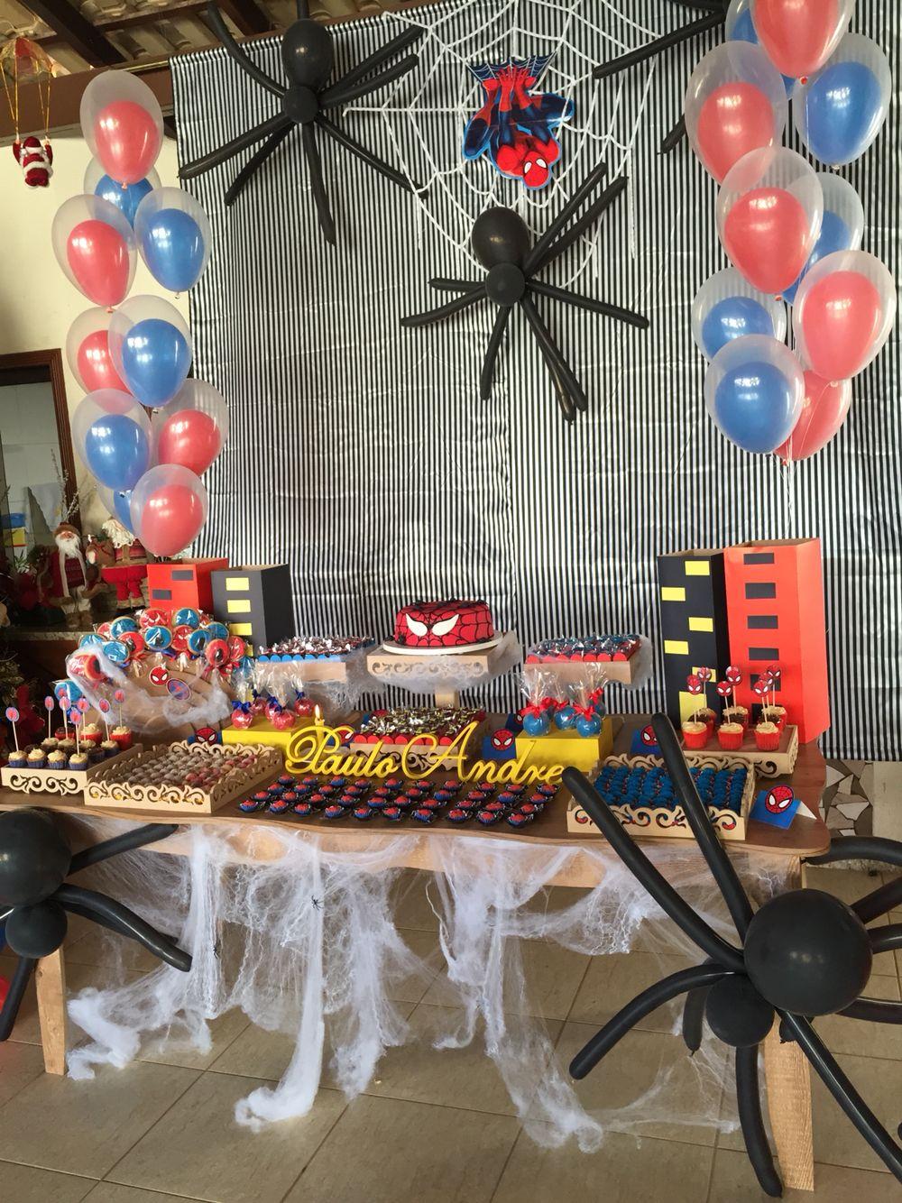 Pin En Festa Do Homem Aranha Spider Man Party