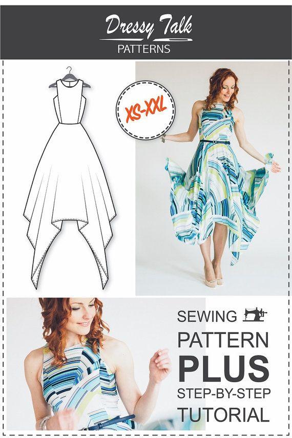 Maxi Dress Pattern   Patrones vestidos, Patrones y Coser