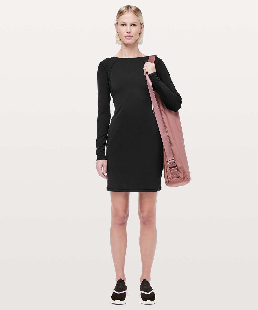 397a294c8e Lululemon Contour Dress *Nulu - Black in 2019 | Lululemon | Dresses ...