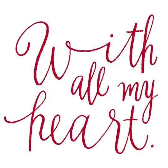 With all my heart.