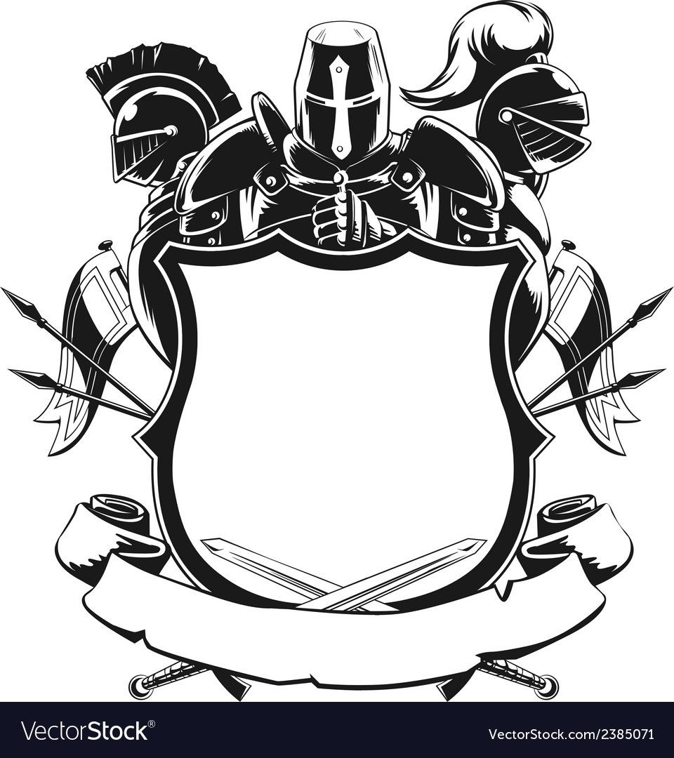 Pin By Cam Piper On Art Silhouette Ornaments Knight Shield Shield Drawing