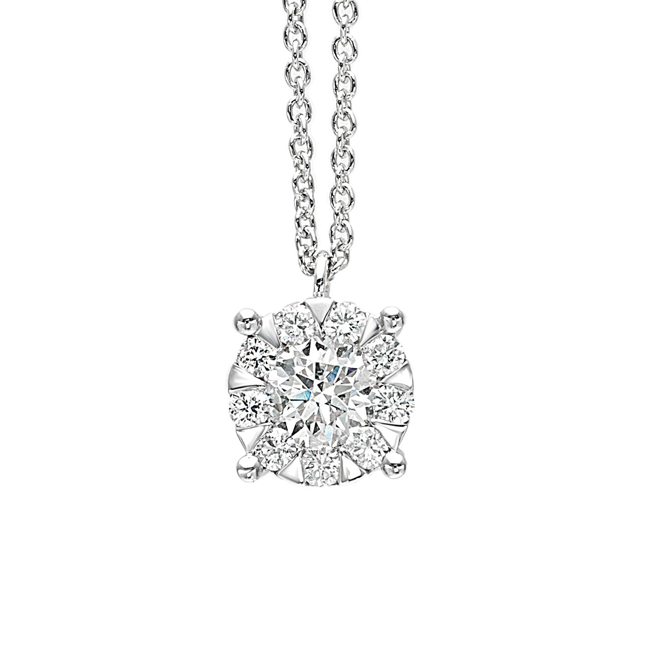 gold white solitaire diamond sol necklace products vrai jewelry carat soli oro
