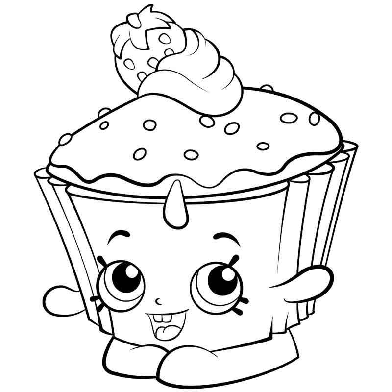 Shopkins Coloring Sheets Shopkins Colouring Pages Cupcake