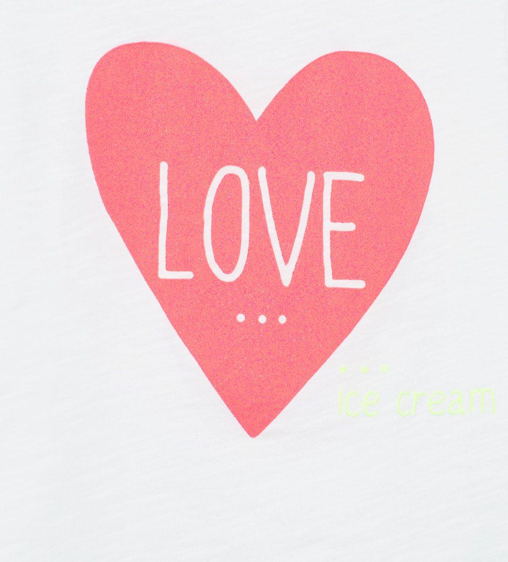 Image 5 de T-shirt avec cœur brillant de Zara