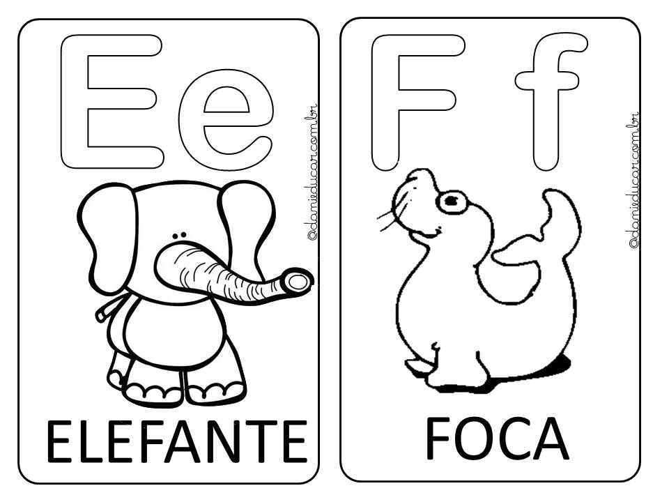 Alfabeto Ilustrado Para Colorir Alfabeto Ilustrado Para Colorir