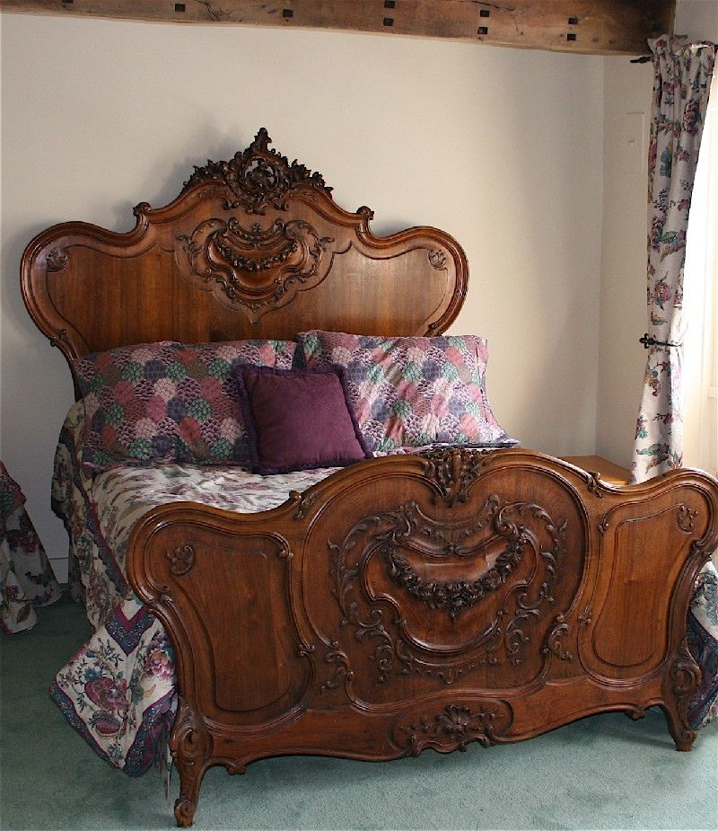 French Antique Louis XV Bed