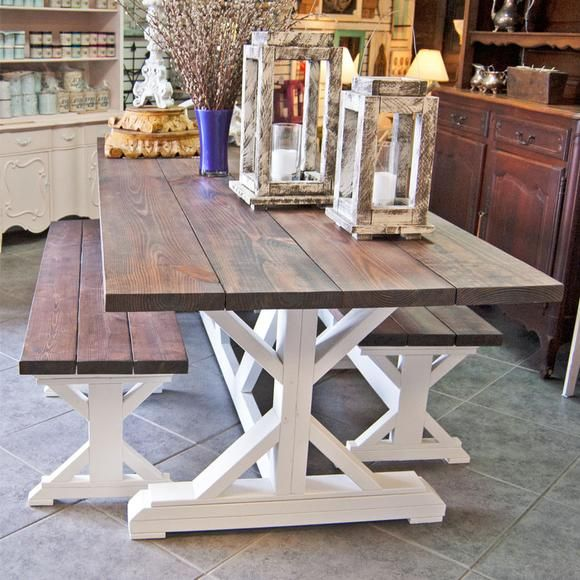 10 Ft Farmhouse Table Trestle Farm Table Farmhouse Kitchen Table