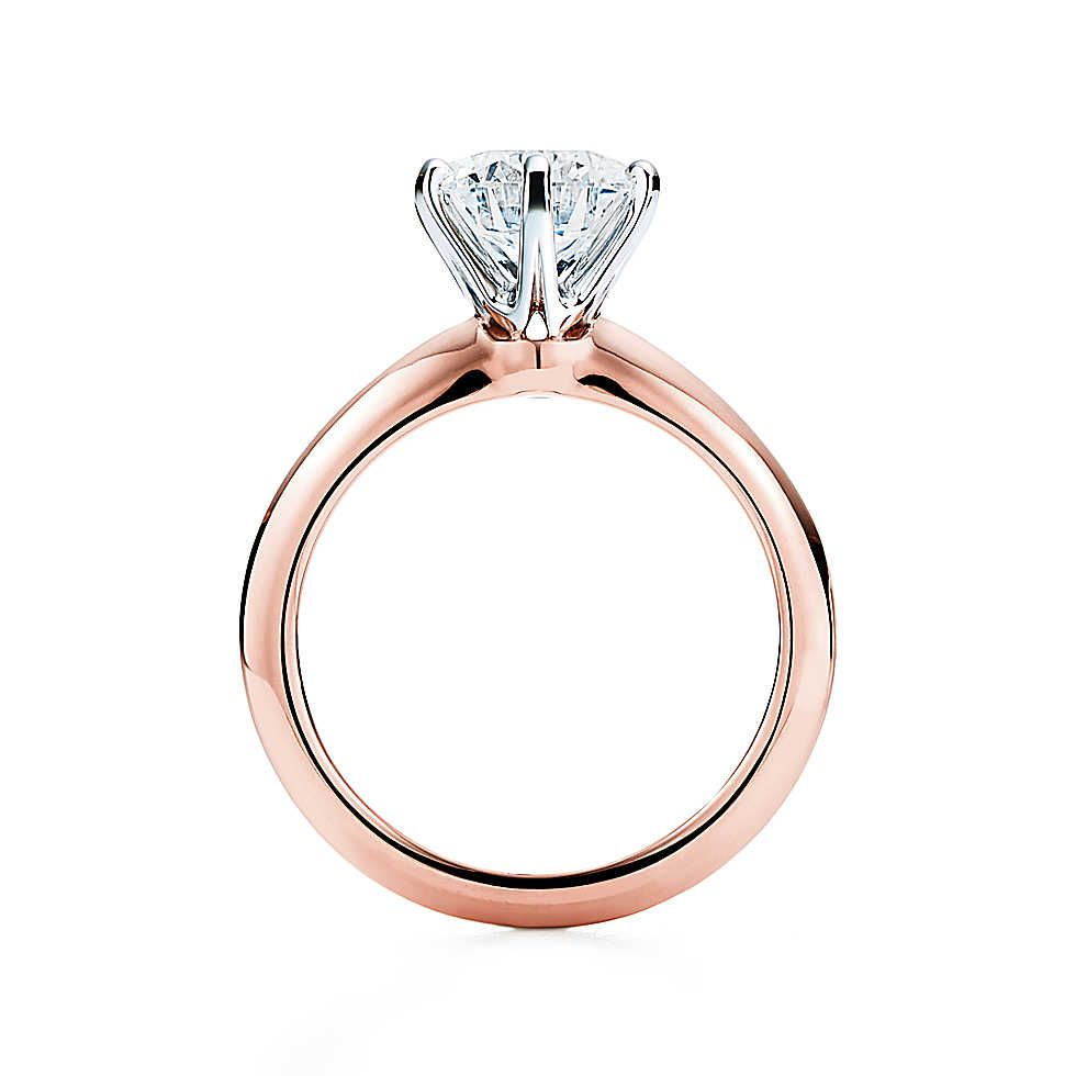 The Tiffany® Setting 18K Rose Gold | Tiffany, Engagement and Ring