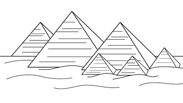 Egyptian Pyramids Black And White Google Search Coloring Pages For Kids Coloring Pages Pyramids