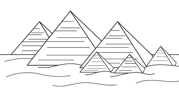 Egyptian Pyramids Black And White Google Search Coloring Pages