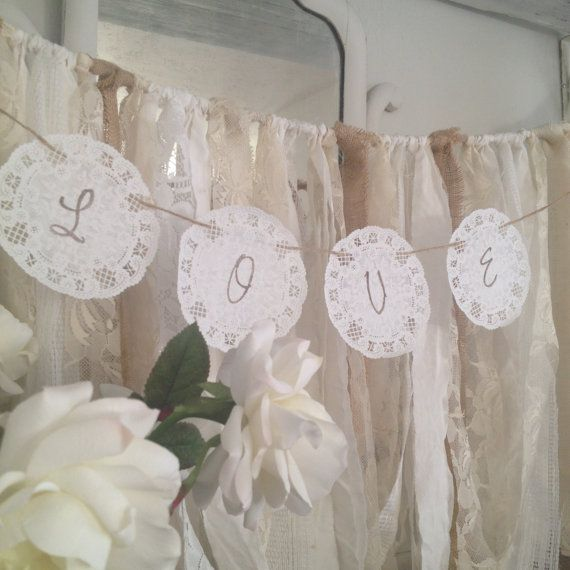 Paper Doily Wedding Garland Rustic By DenaDanielleDesigns 800