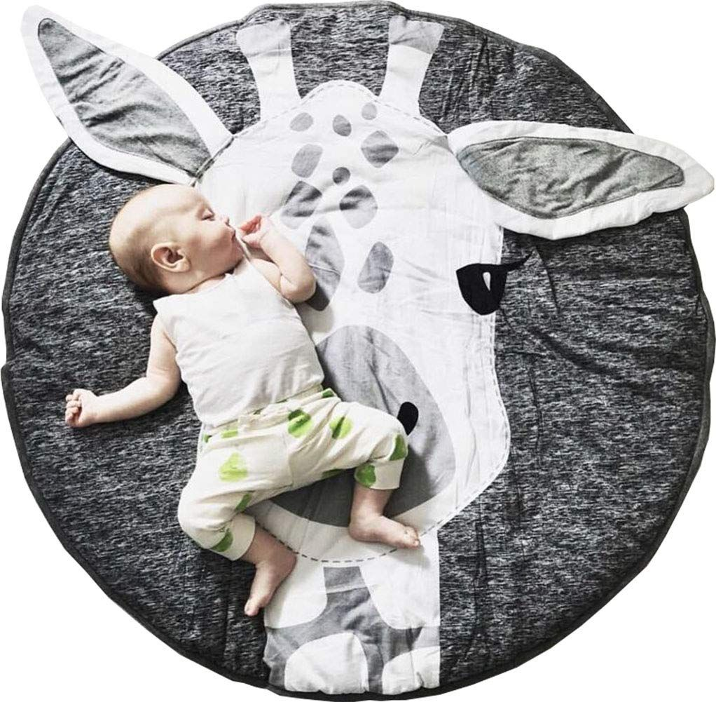 Gabwe Round Giraffe Rug Carpet Cotton For Baby Floor Play Mats