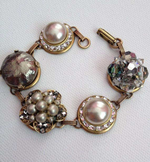 Upcycled Bracelet Vintage Earring Bracelet By