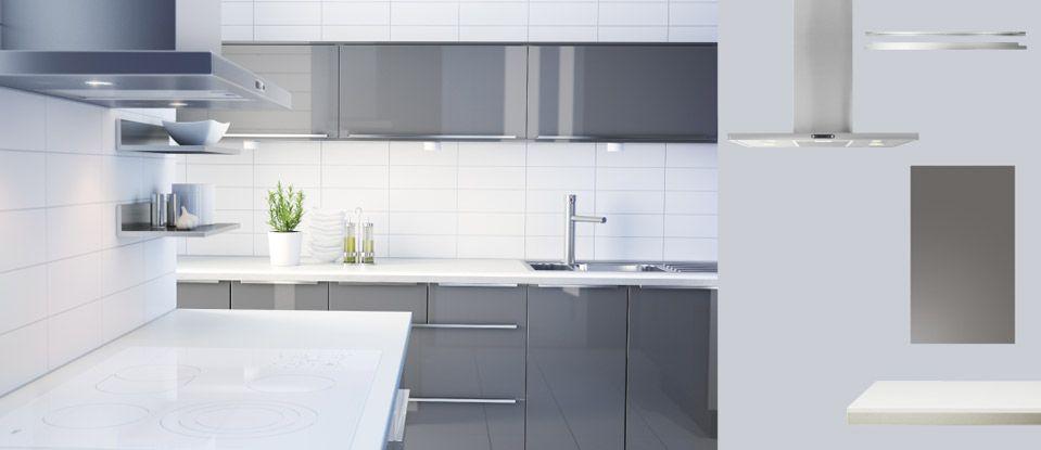 Kitchen Cabinets Abstrakt High Gloss Grey