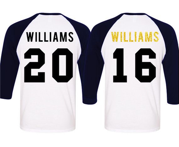 ac97f755 MRS Gold Bride Shirt + MR Groom Baseball Tees CUSTOM Names & Numbers Set  Navy Blue, Couples Shirts,