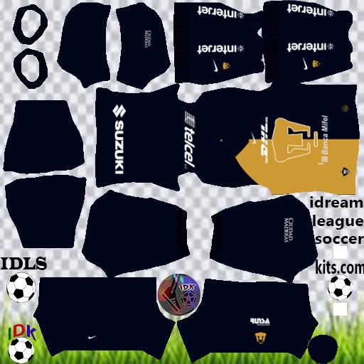 Pumas Unam Kits 2020 Dream League Soccer In 2021 Soccer Kits Soccer Club Pumas