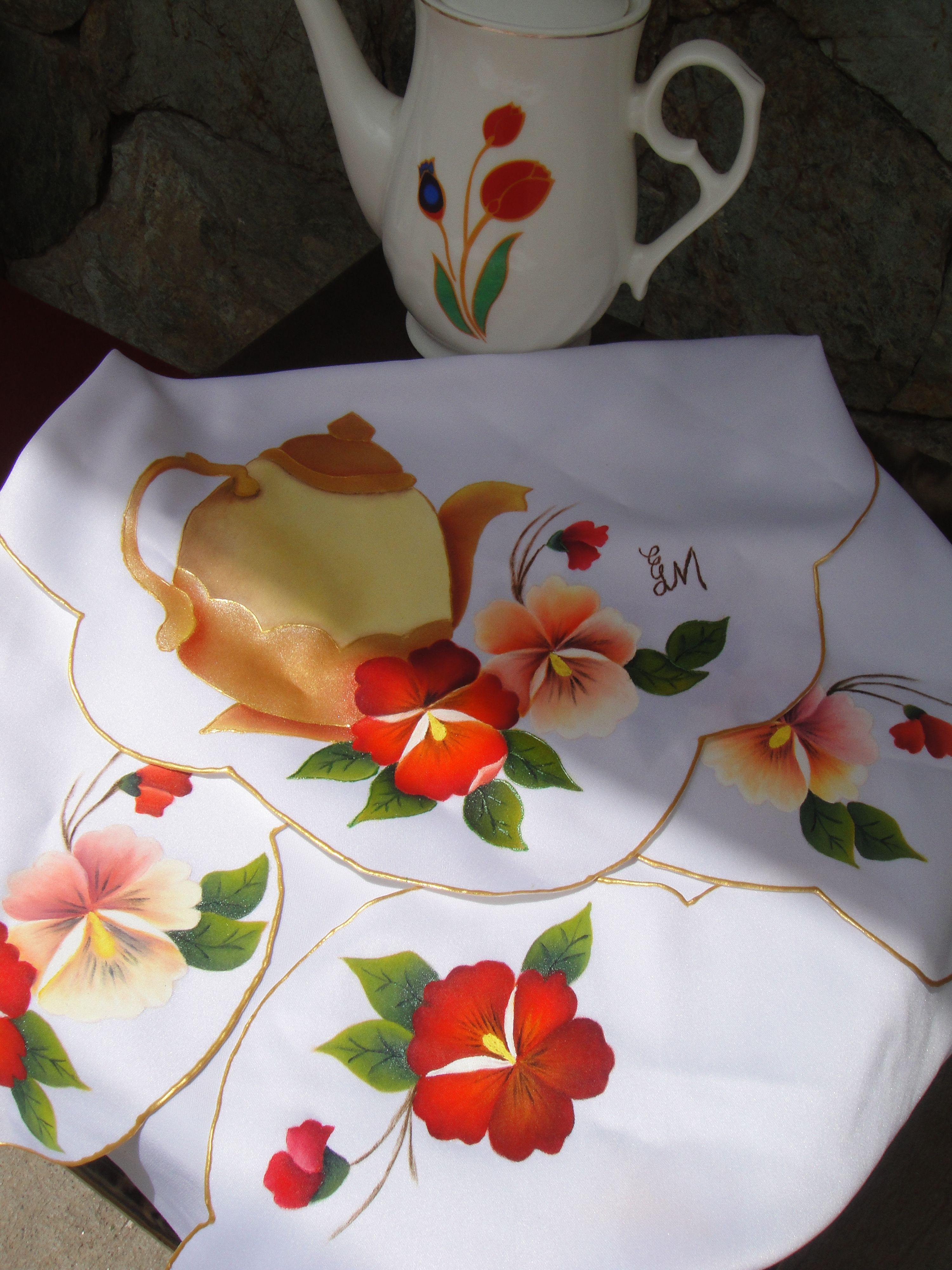 Paneras para usar a la hora del t hechas con pintura - Paneras de tela ...