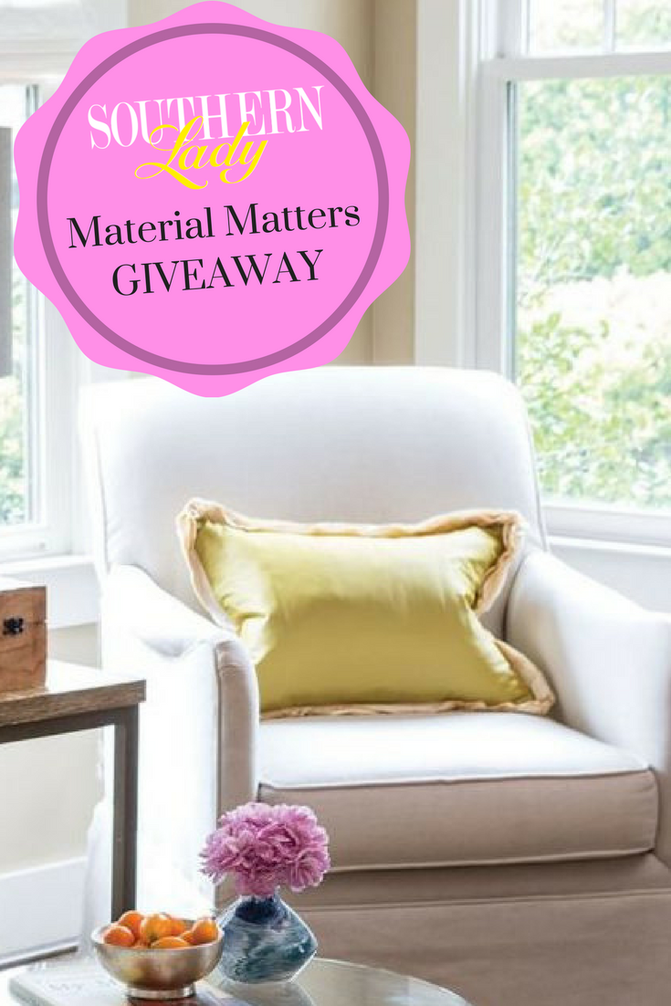 Material matters pillow cover giveaway southern lady magazine