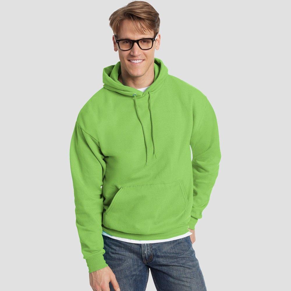 1 Black Hanes Mens EcoSmart Hooded Sweatshirt 2XL 1 Ash