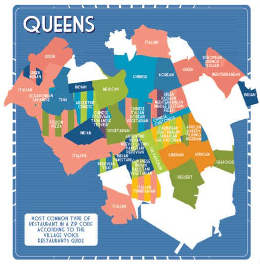 Queens Zip Code Map on