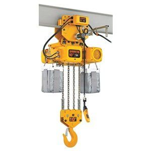 Chain Hoist 10 Ton Lift 10 Ft 5 5 2 Fpm By Harrington 14259 63 Electric Chain Hoistsh4 Rated Die Cast Aluminum Frict Steel Wheels Building A House Pulley