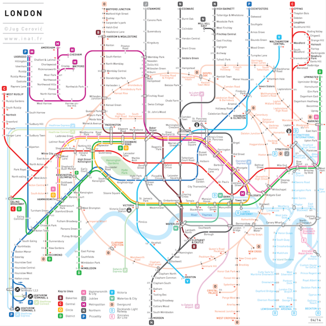 Simplified Map Of London.Simplified Subway Maps Art London Tube Map Underground Map