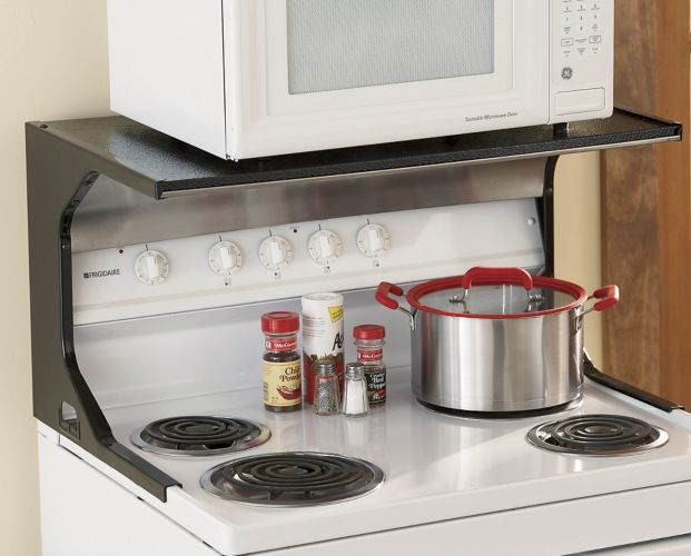Microwave Shelf From Seventh Avenue Microwave Shelf Microwave Storage Microwave Shelf Over Stove