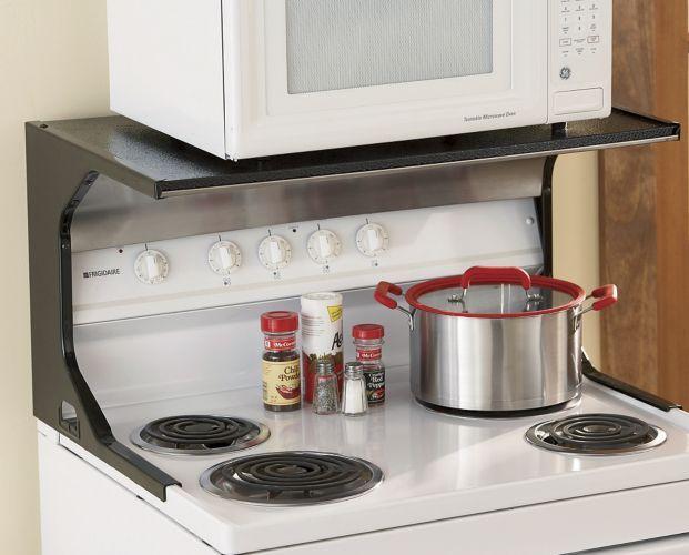 great idea microwave shelf