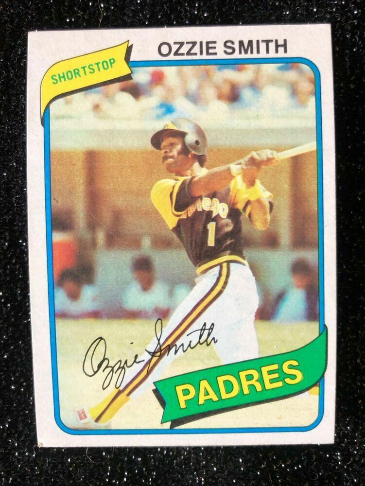 1980 topps ozzie smith 393 baseball card san diego padres