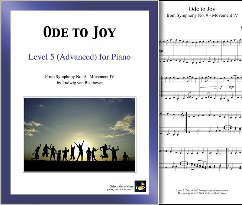 Ode To Joy Level 5 Piano Sheet Music Ode To Joy Piano Sheet