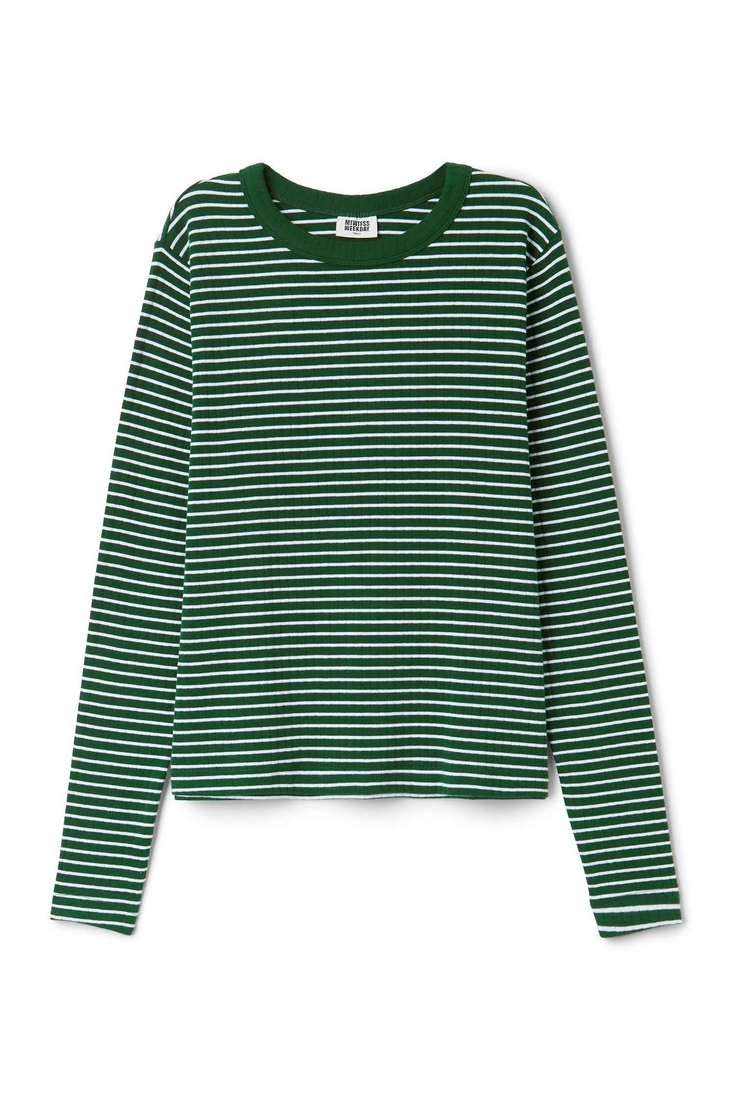 Weekday Image 4 Of Stripe Long Sleeve T Shirt In Green Dark Striped Long Sleeve Shirt Aesthetic Shirts Striped Long Sleeve