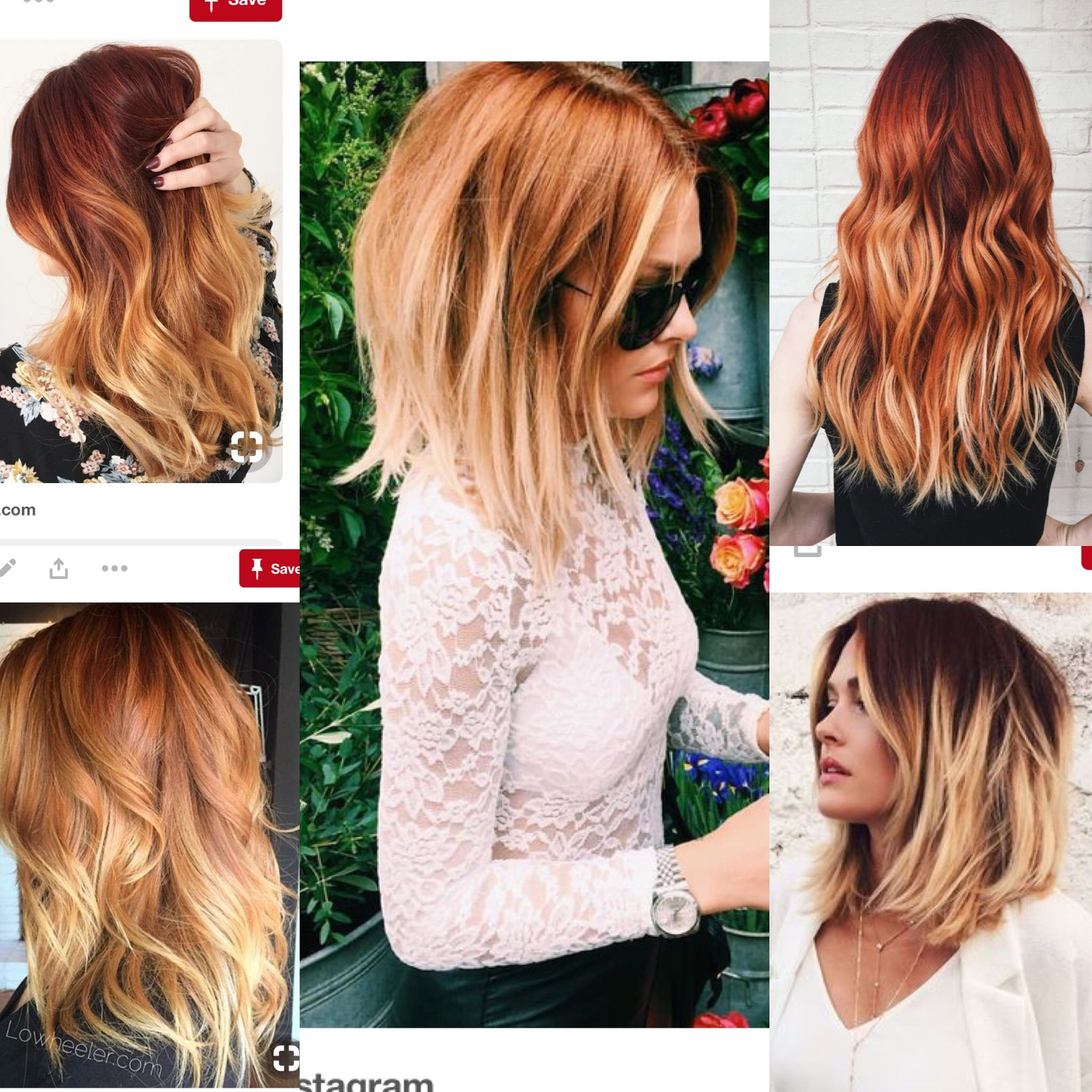 Copper Blonde Ombre Copper Blonde Hair Balayage Hair Copper