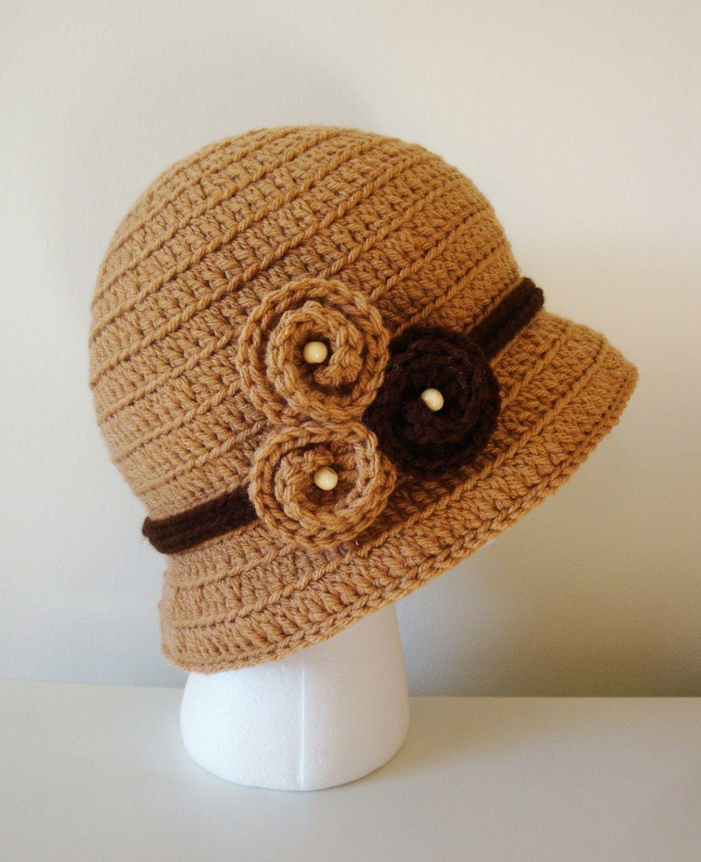 Crochet Bucket Hat Lady Cloche in Topaz by DaisyEzyCraft on Etsy www ...